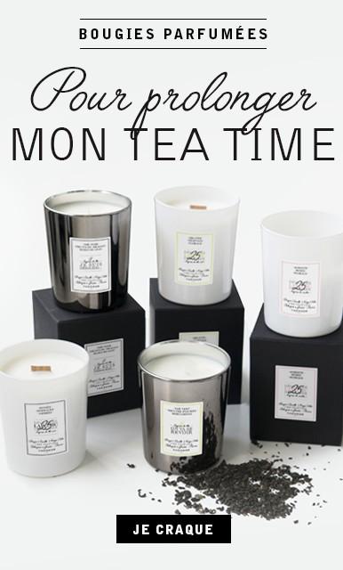 Bougies parfumées et thé THEODOR