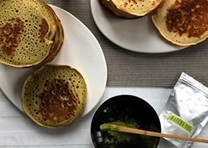 Pancakes thé Matcha-Yuzu